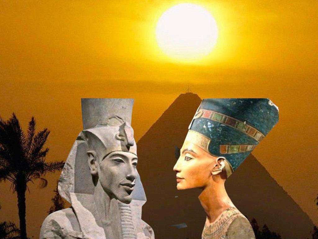 il re e la regina nell'antico egitto